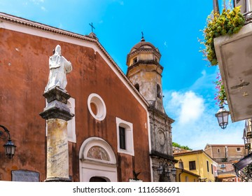 MARATEA, ITALY - The catholic church Chiesa dell'Annunziata in the center of the old town Maratea in Calabria in the south of Italy.