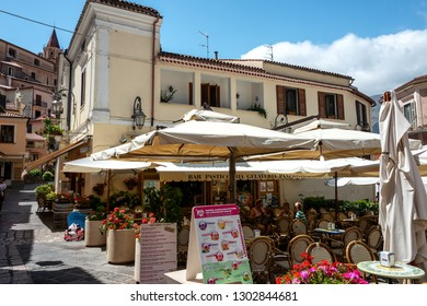 MARATEA/ ITALY JULY 2017: Maratea small streets and panoramic views, panorama of the Mediterranean countryside old town