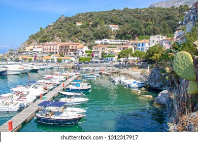 AT MARATEA ON 06/04/2017 - The little touristic  port of Maratea, Basilicata, Italy