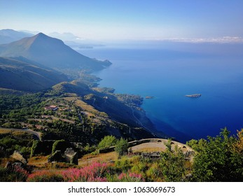 Maratea - Panorama of the city of Maratea seen from above Monte San Biagio
