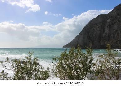 Maratea (PZ,Italy) rocky coastline beach view.
