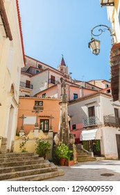 Maratea small streets and panoramic views, panorama of the Mediterranean countryside old town