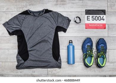 Marathon kit, top view