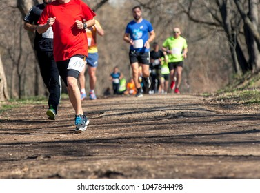 Marathon race  at spring