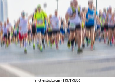 marathon runners in the city, Background