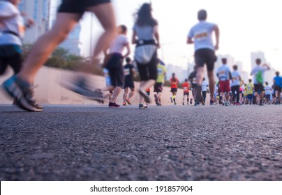 Marathon runners outdoor