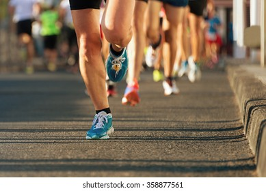 Marathon running in the light of evening
