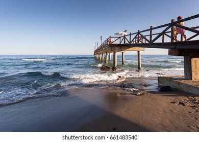 MARBELLA, MALAGA / SPAIN -  AUGUST 26, 2012: Coast of Marbella, in southern Andalucia, Spain