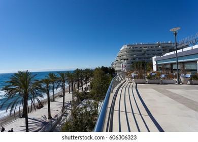 MARBELLA, MALAGA / SPAIN -  February 20, 2014: Coast of Marbella, in southern Andalucia, Spain