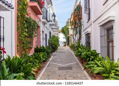 Marbella, Spain - 12 December 2017: Old Town Marbella
