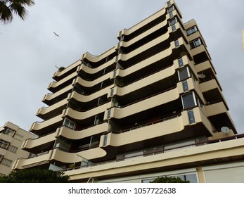 Marbella, Spain - March 2018: Building in Marbella