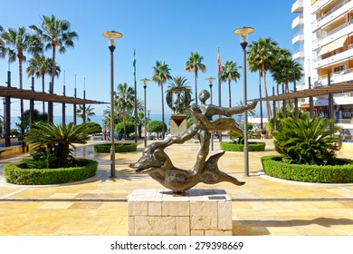 MARBELLA, SPAIN - MAY 9 : Salvador Dali sculpture pictured on May 9th, 2015, in Marbella Spain. This sculpture is locate in Puerto Banus, a marina of Marbella.