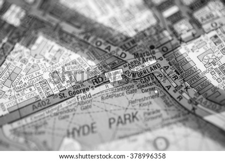 Marble Arch London Map.Marble Arch London Uk Map Stock Photo Edit Now 378996358
