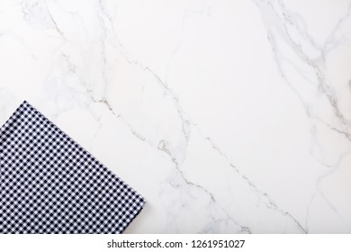 Marble background with textile and copy space for text