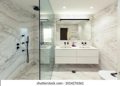 Marble bathroom interior design