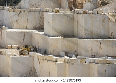 marble block industry while working with heavy machines