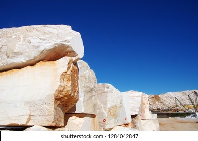Marble blocks on quarry at south of Portugal