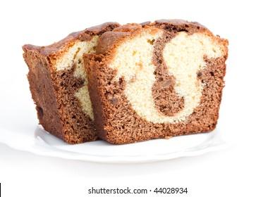 marble cake bake sweet dessert slice