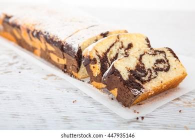 Marble cake - Homemade sweet dessert