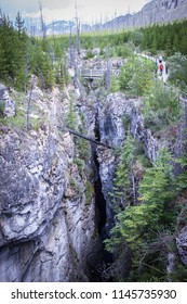 Marble Canyon in Kootenay National Park in Canada.
