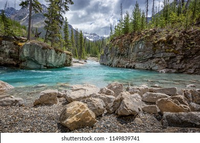 Marble Canyon and Kootenay River in Kootenay National Park, British Columbia, Canada
