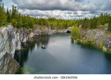 Marble canyon in Ruskeala Nature Reserve in Republic of Karelia, North Russia - Shutterstock ID 1861463506