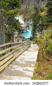 Marble Canyon and Tokumm Creek in Kootenay National Park British Columbia Canada