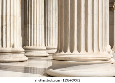marble columns of academy of athens