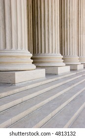 Marble columns and steps