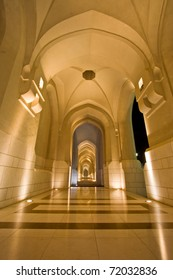 Marble Corridor to the Sultan Qaboos' palace, Muscat Oman