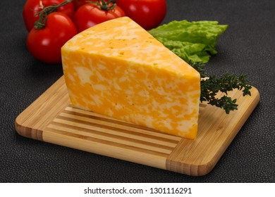 Marble delicous cheese served thyme