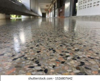 Marble floor with beautiful colors, shiny and clean.