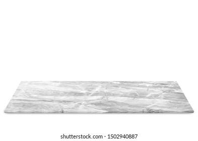 Marble floor isolated on white background