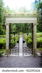Marble Gate Archway With Beautiful Gardens