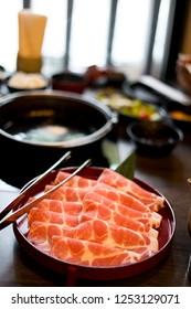 Marble Kurobuta Pork Steam Boat Shabu Sukiyaki Nabe Japanese Food