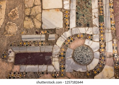 marble mosaic in the Basilica of St. Nicholas, Mira