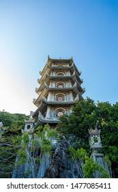Marble mountain pagoda in Vietnam. Hoi An, Vietnam. November 20, 2018