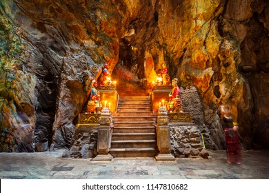 Marble mountains cave in Danang city in Vietnam
