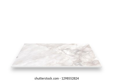 Marble Perspective Isolated On White. For Product Display