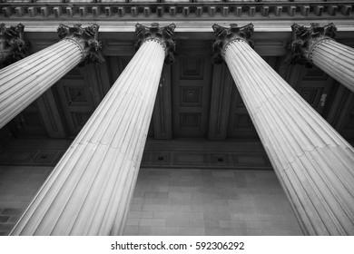 Marble Pillars  black and white