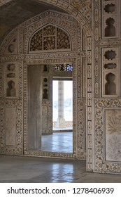 Marble prison in Red Fort, Agra, India.