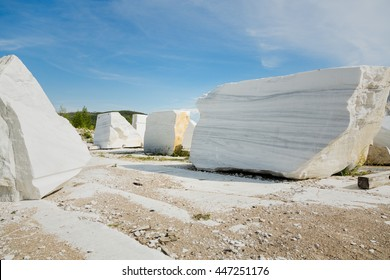 marble quarry. baikal.  russia. large natural marble stone. July 2016