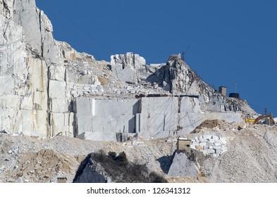 marble quarry in carrara tuscany italy