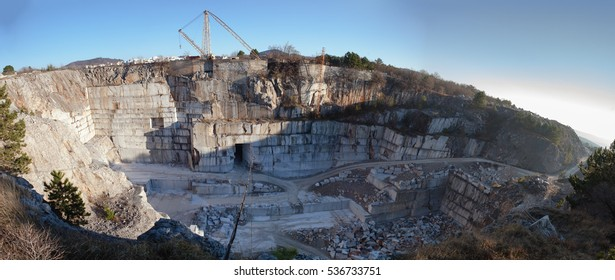 Marble quarry in the Karst area, near Lipica in Slovenia.