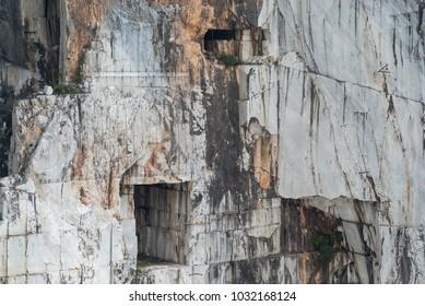 Marble quarry site of Carrara, Italy