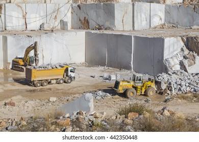 Marble quarry site in Turkey, Afyonkarahisar