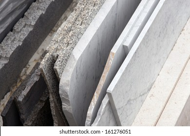 marble slabs ready to be processed