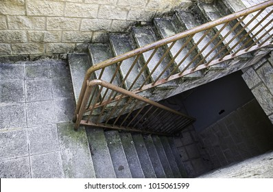 Marble stairs in interior of housing, construction and architecture