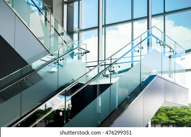 Marble stairs interior in Modern building