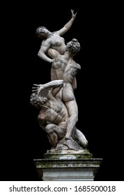 Marble statue in Florence-the Abduction of Sabian Women.